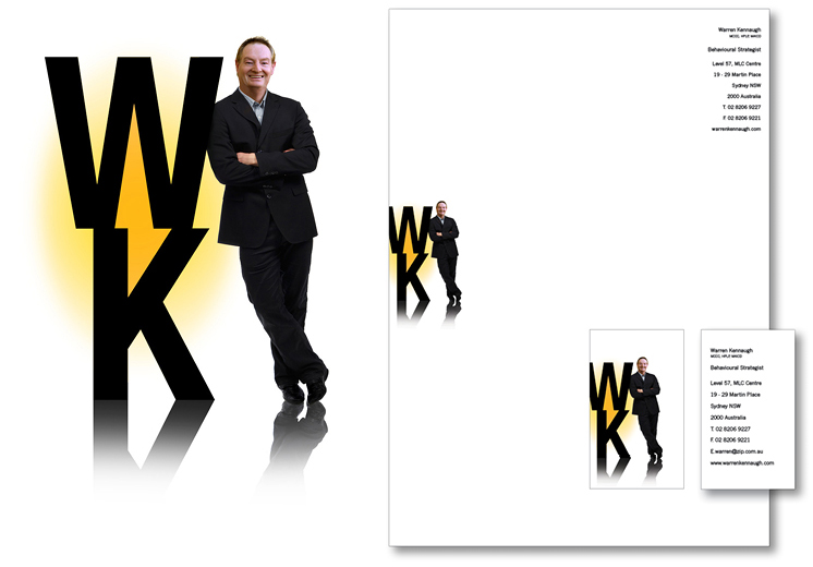 WK logo and stationery