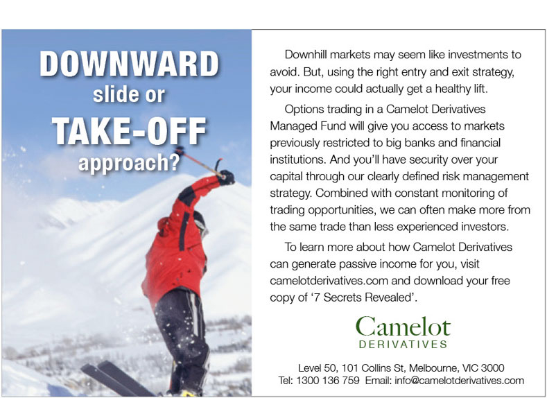 Camelot skiing ad