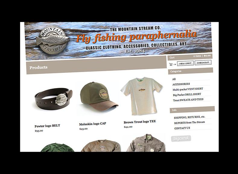 Mountain Stream website